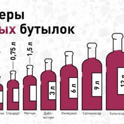 Какие бывают бутылки вина по объёму